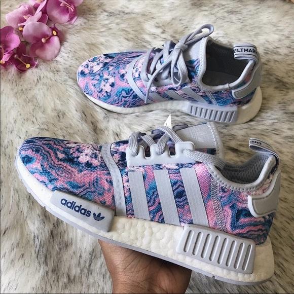 Adidas Shoes Nwt Nmd R1 Tie Dye Purple 6y75w Poshmark
